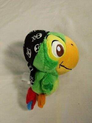 Disney Store Jake and the Neverland Pirates SKULLY Stuffed Plush Doll Parrot