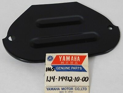 NOS Genuine 76-77 YAMAHA YZ 100 175 AIR BOX CASE FILTER Cover Part OEM 2K5-14421