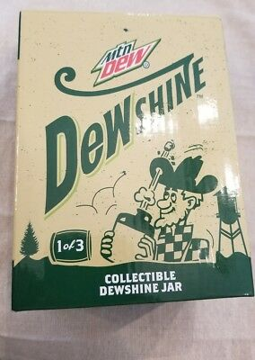 MOUNTAIN DEW Dewshine Limited Edition Mason Jar 1 of 3 (New in Box)