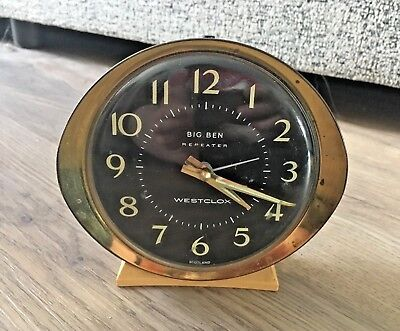 Vintage 1970's Westclox Big Ben Repeater Alarm Clock- Made In Scotland- Untested