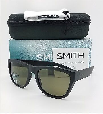 8c666e7eda4 NEW Smith Clark Sunglasses Matte Black ChromaPop Polarized Grey Green  169