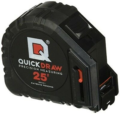 QuickDraw Features Self-Marking  25' Precision Measuring Tape Contractor Grade