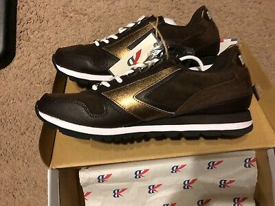 4a7abb8bc11aa BROOKS HERITAGE MENS Chariot Retro Brown Gold Sneakers Size 9 ...