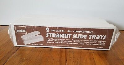 Lot of 2 Yankee Universal White 40 Compartment Straight Slide Trays NEW