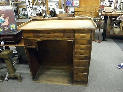 J.H. Rosberg Mfg. Co., Chicago, IL Watchmaker Jeweler's Workbench Vintage