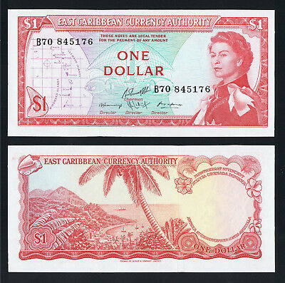 East Caribbean States 1 Dollar ND ( 1965 ) P 13 f UNC