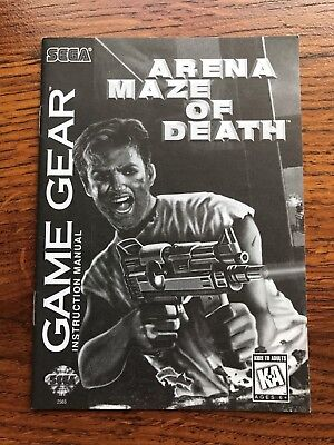 Arena Maze of Death Sega Game Gear Instruction Manual Only