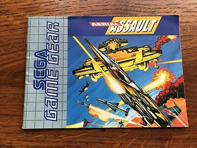 Aerial Assault Sega Game Gear Instruction Manual Only