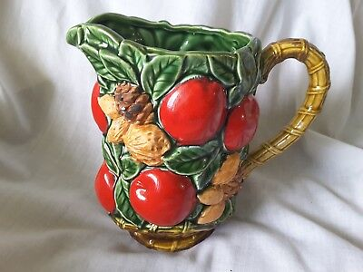 Vintage Inarco Japan Apples Nuts Leaves E4480 pitcher INARCO