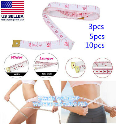 "Body Measuring Ruler Sewing Cloth Tailor Tape Measure Soft Flat Ruler 60""X150CM"