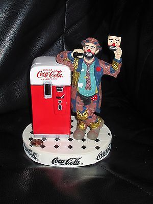 """Century Collection First Edition Coca Cola Emmett Kelly """"Put On A Happy Face"""""""