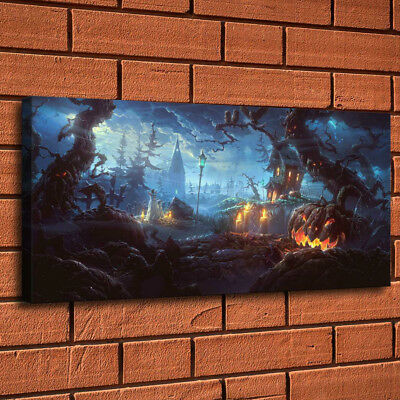 Halloween Fond Night Painting HD Print Canvas Home Decor Room Wall Art Picture