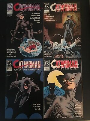 Catwoman  #1 - #4 1989 High Grade Limited Series Batman 50 DC