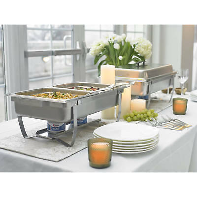 Chafer Buffet Chafing Dish Stainless Catering Foldable Frame Food Warmer Party
