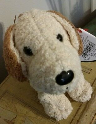 Ty RUFUS Terrier Golden Brown Dog Beanie Baby with Tags DOB 02/28/2000 Retired