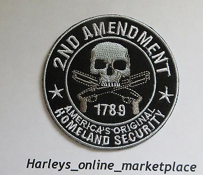 2nd Amendment motorcycle biker patch, New, USA seller, ships fast, 4 inches tall