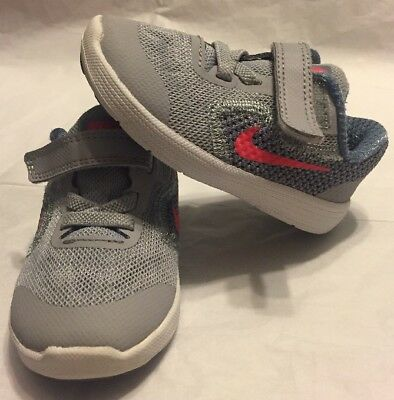 bfd2f3b3a8 819418-003] NIKE REVOLUTION 3 TDV Toddler Running Shoes / Wolf Grey ...