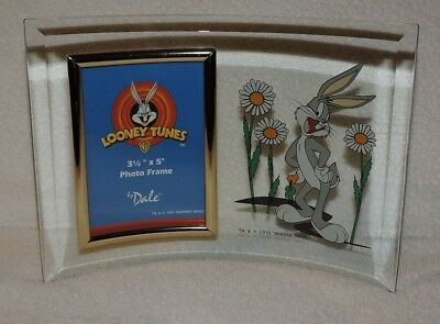 """Looney Tunes WB 1997 Bugs Bunny Curved Glass 3.5"""" x 5"""" Photo Frame By Dale"""
