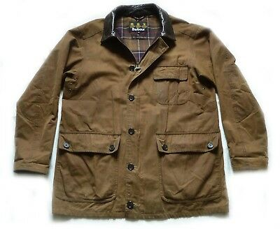 "Superb Barbour "" Field "" Wax & Leather Jacket - Med  - Xcondition - V Rare £285"