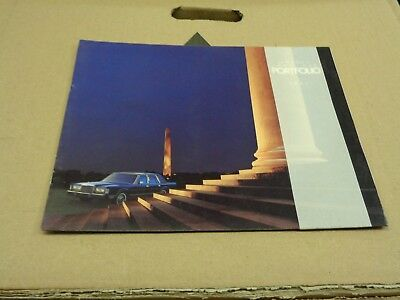 New 1987 Lincoln Town Car Sales Brochure Base Signature Cartier 87