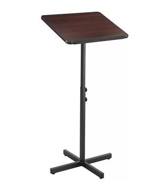 Freestanding Podium Adjustable Mahogany Lectern Speaker Stand Presentations Show