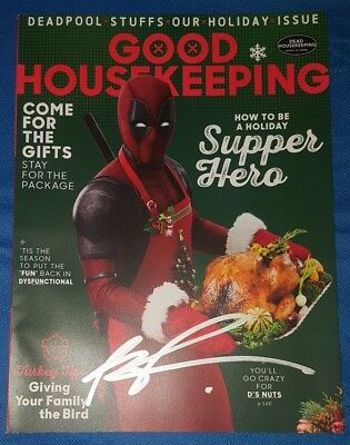Good Housekeeping DEADPOOL 2 Movie Magazine SIGNED BY ROB LIEFELD