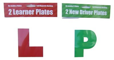2 Learner & 2 New driver plates with full magnetic backing
