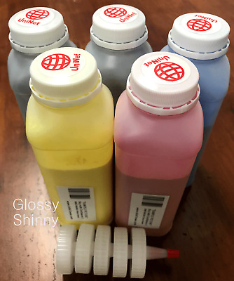 5 x Glossy Toner Refill for HP Color LaserJet CP3525, CM3530, CP3525x + 5 Chip