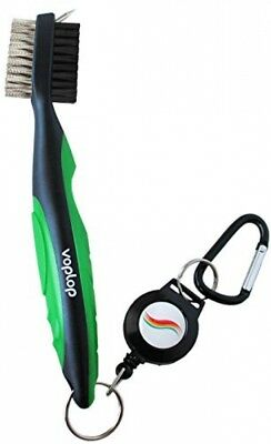 Voplop VL-BRSH Golf Brush And Club Groove Cleaner, Easily Attaches To Golf Bag,