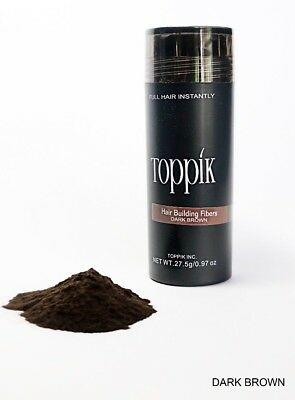 DARK BROWN TOPPIK Hair Loss Building Fiber 27-5g FREE AND FAST SHIPPING IN USA