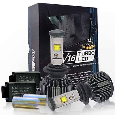 Chylay H7 LED Headlight Bulbs All-in-One car LED Conversion Kit,60W 7200 LM