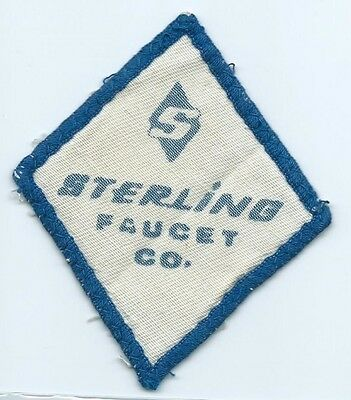 S Sterling Faucet Co advertising patch 4 X 3-1/2 #1836