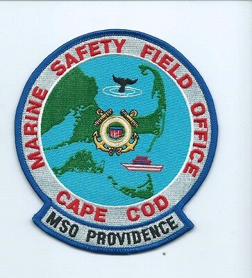 USCG United States Coast Guard MSO Providence Patch Cape Cod, MA 5X4-1/2