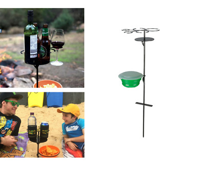 Outdoor Drink Holder Wine Glass Bottle Cup Holder Mug Camping Picnic