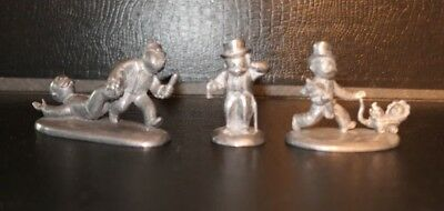 Dept. 56 Monopoly Large Token Mover Pewter Piece Lot of 3