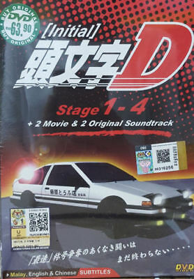 Dvd Anime Initial D Stage 1-4 + 2 Movie + 2 Original Sound Track Eng Sub