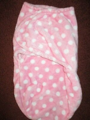 Swaddle Baby Wrap Baby Girl Pink and white Polka Dot Soft Blanket