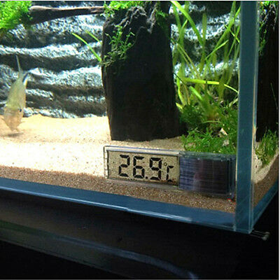 New LCD 3D Digital Electronic Aquarium Thermometer Fish Water Tank Temp MeterZJZ