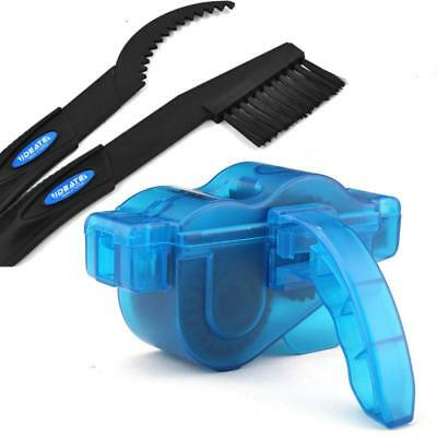 Cycling Bike Chain Wheel Wash Cleaner Tool Cleaning Brushes Scrubber Set Clean