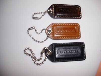 "Lot of 3 Authentic Leather Keychains  All New  "" SALE"""