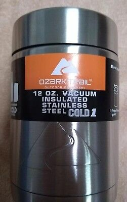 51dc8a8f195 Ozark Trail 12 Ounce Vacuum Insulated Can Cooler with Metal Gasket Koozie