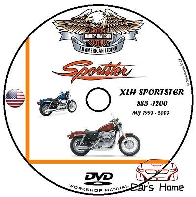 MANUALE OFFICINA HARLEY DAVIDSON XLH SPORSTER 883 1200 my 1993 2003 WORKSHOP