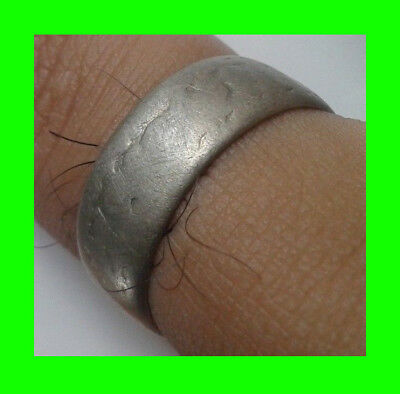 antique ancient authentic Exquisite Viking silver wedding ring Old Great piece.
