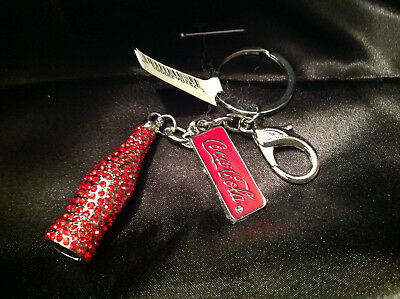 Estate Sale Jewelry Nwt Coca Cola Bling Key Ring Chain