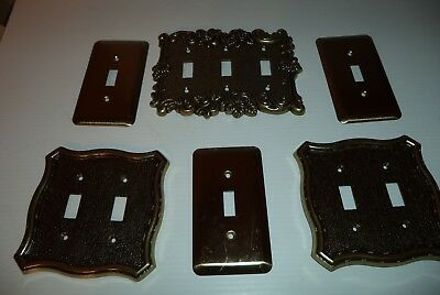 Vintage Gold  Ornate Shabby Rose  Switch Wall Plate Covers AmerTac  & MORE