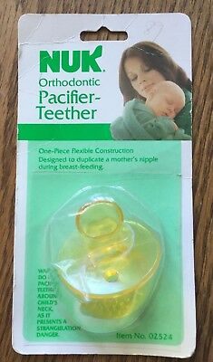 Vintage Gerber Nuk Orthodontic Vinyl Yellow Rare