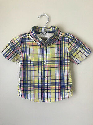 Carters 12 Months Button Front Shirt Baby Boy Clothes