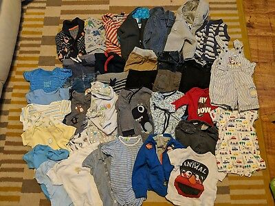 Baby Boy 6-9 Month Clothes Bundle Baker Next John Lewis Adidas Herdy 39 Items