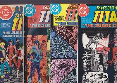 Tales of the Teen Titans #42 43 44 Ann. 3 Judas Contract full set 1st Nightwing