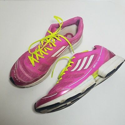finest selection 1adc6 0e070 Adidas Adizero Feather Womens Size 9 Pink Running Shoes Training Sprint  Adiprene